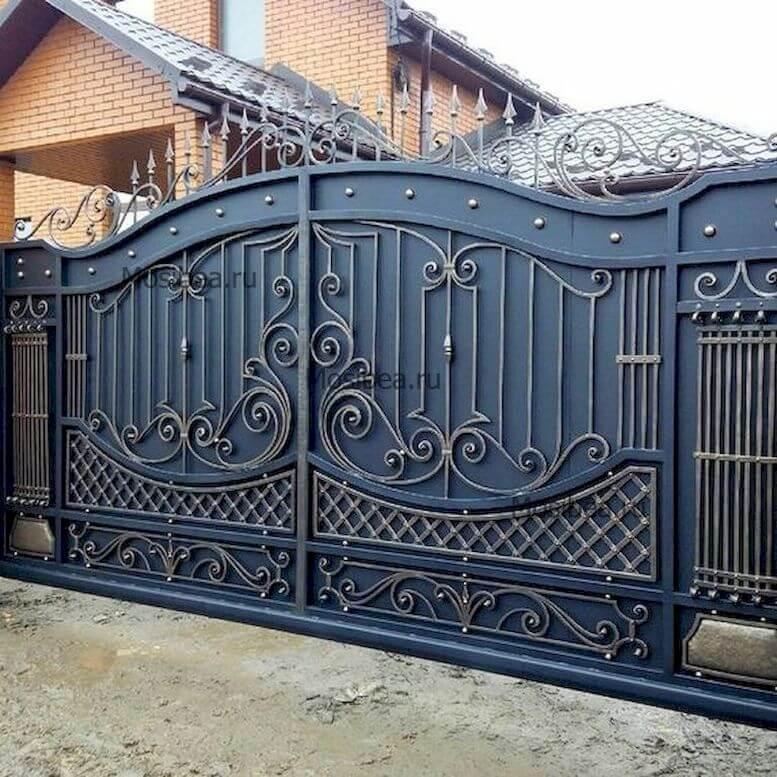 красивые ворота из металла фото последующие годы